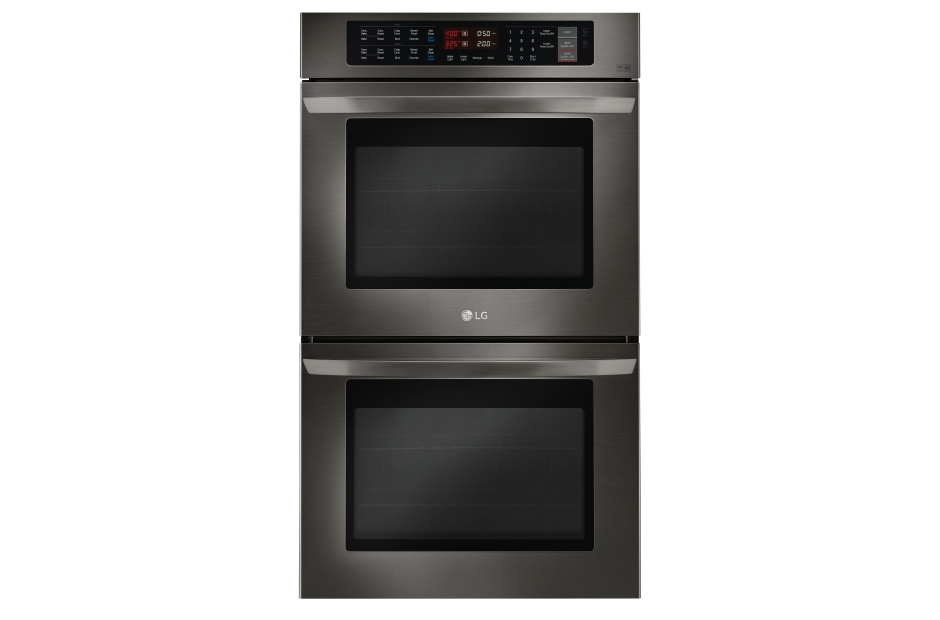 lg 47cuft upper u0026 lower capacity double builtin wall oven with crisp convection in black stainless steel lwd3063bd