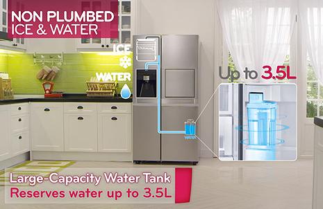 Side By Side Kühlschrank Wasseranschluss Verlängern : Side by side kühlschrank silver platinum cm l samsung de