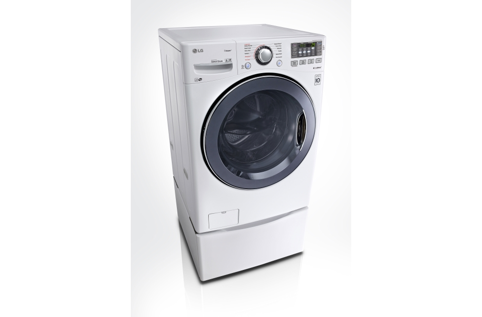 this white lg washer from rc willey has a builtin pause button that lets you pause your wash after it starts and drop in a stray piece of clothing