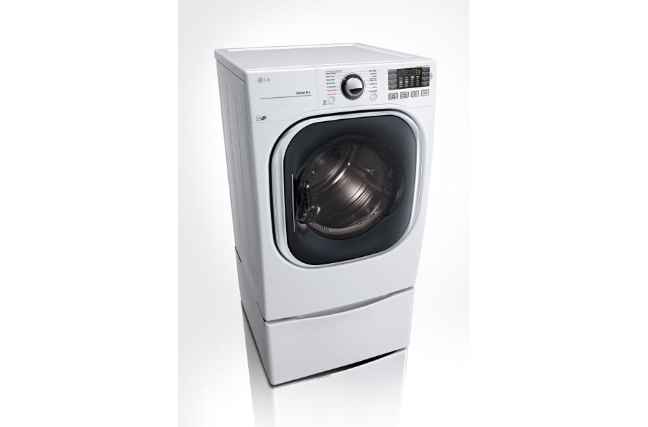 lg 45cuft ultra large capacity turbowash washer 74cuft gas ultra large capacity turbosteam dryer in white