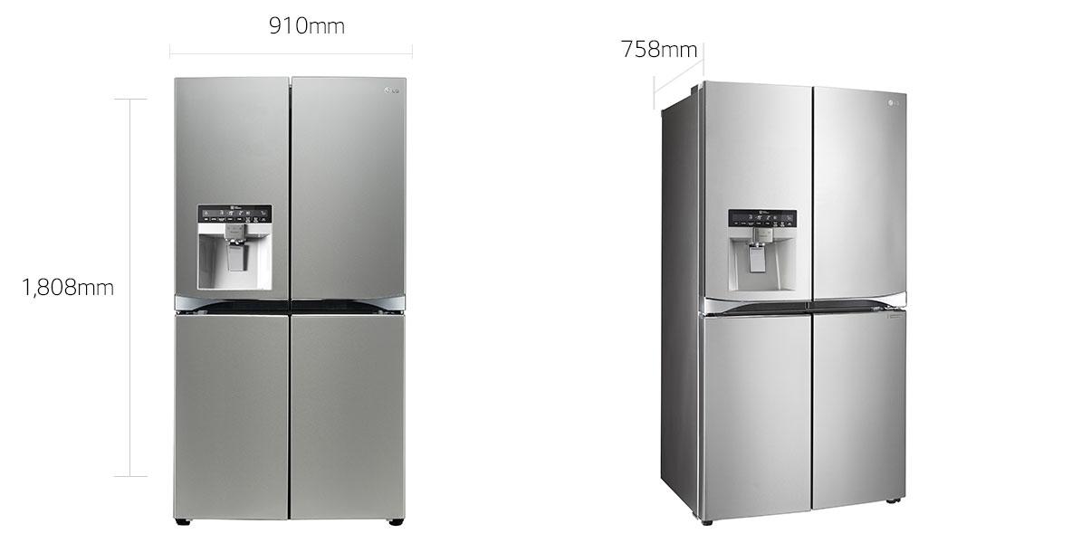 refrigerator cost. lg 712l slim in-door ice and water dispenser french door fridge - fridges appliances kitchen | harvey norman australia refrigerator cost