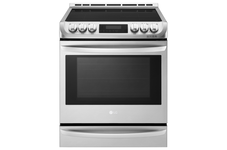 lg 63cuft induction slidein range with probake convection in stainless steel