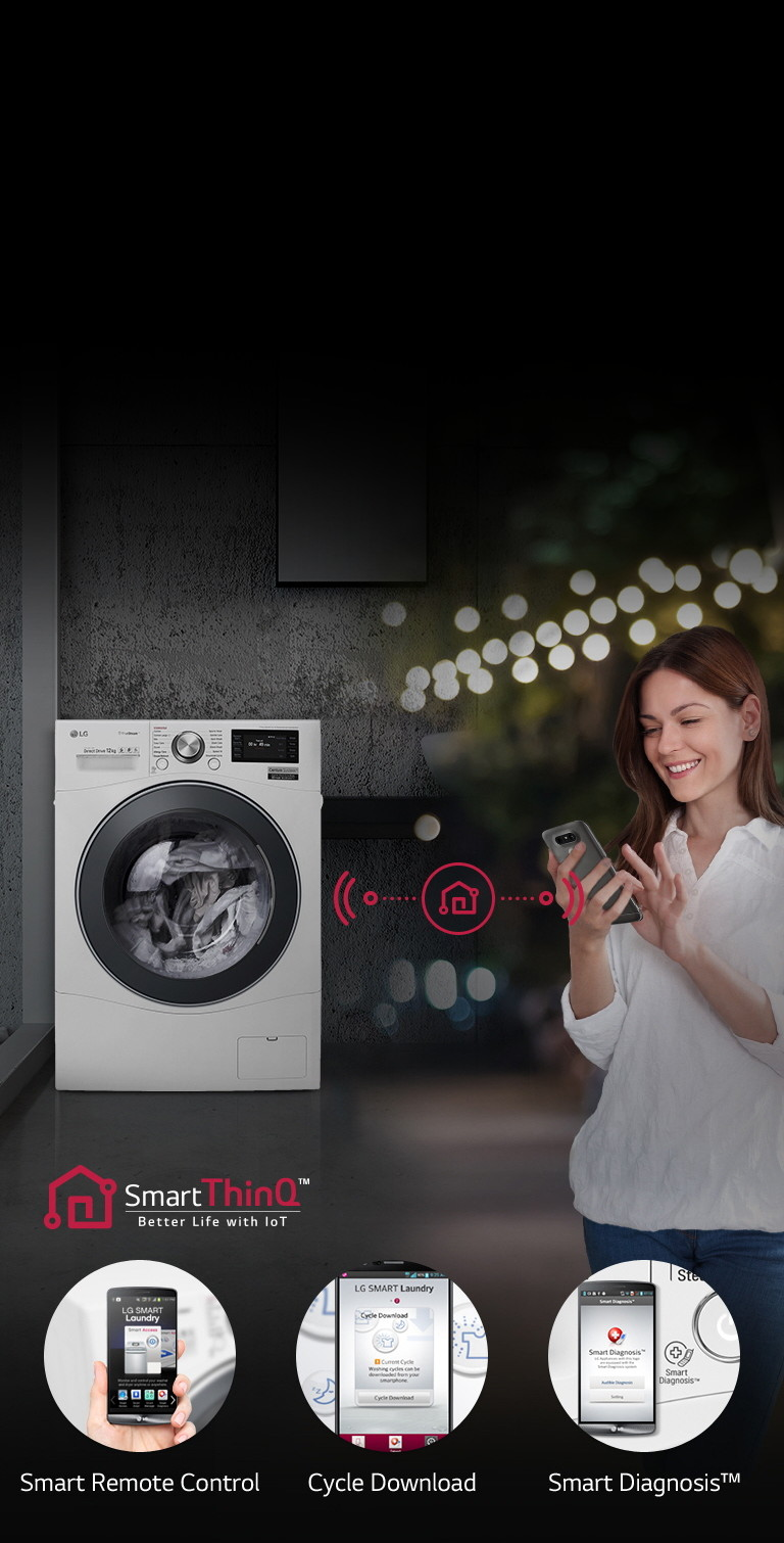 LG FH6F9BDS2 A+++ 12kg Washing Machine with 1600 Spin