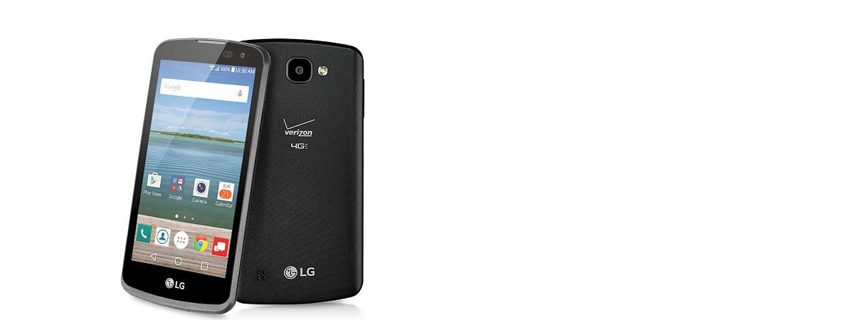 Verizon Wireless LG Optimus Zone 3 8GB Prepaid Smartphone, Black