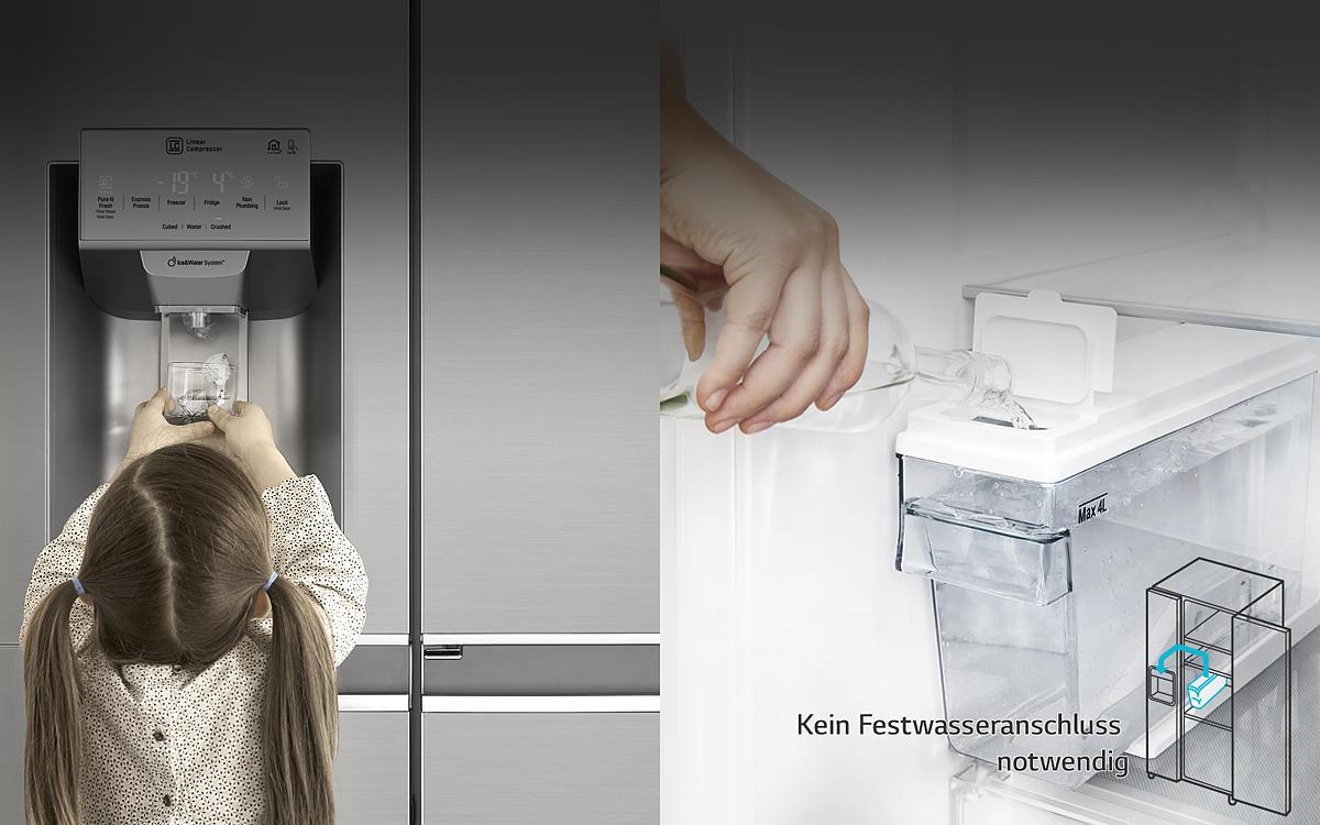 Side By Side Kühlschrank Lg Test : Lg gsx neaz side by side kühl gefrierkombination edelstahl a