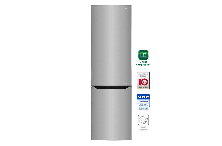 LG GBB60PZEFS Libera installazione 343L A+++ Acciaio inossidabile ...