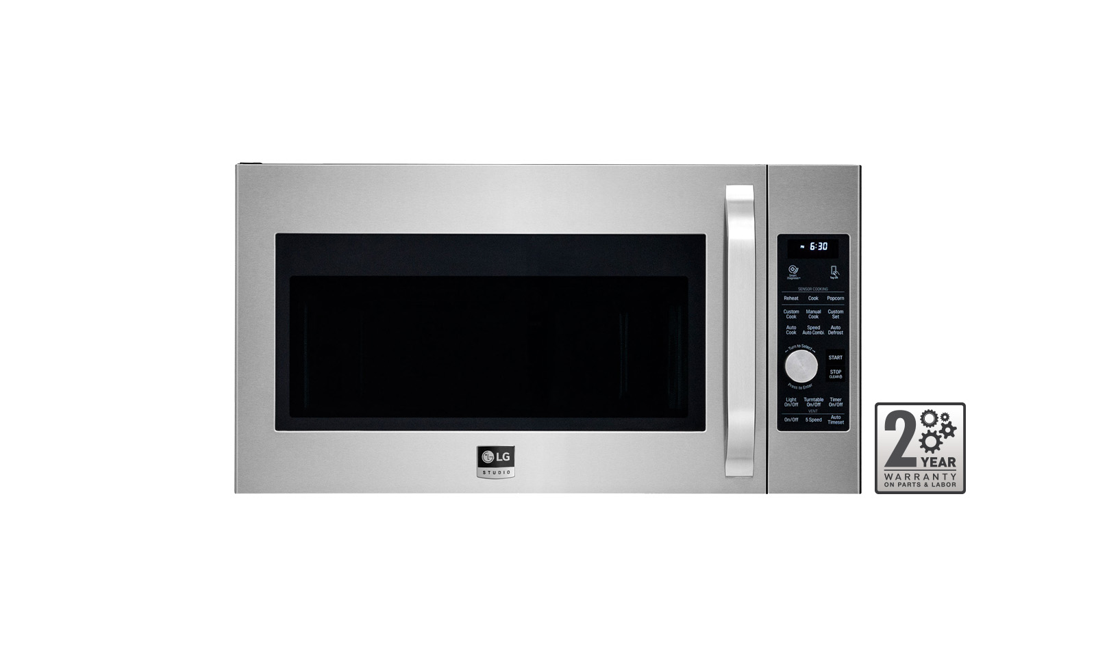 Lg Studio 1 7cuft Over The Range Microwave Oven In Stainless Steel Lsmc3086st