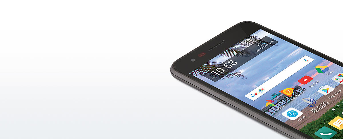 Straight Talk LG Rebel 2 8GB Prepaid Smartphone, Black
