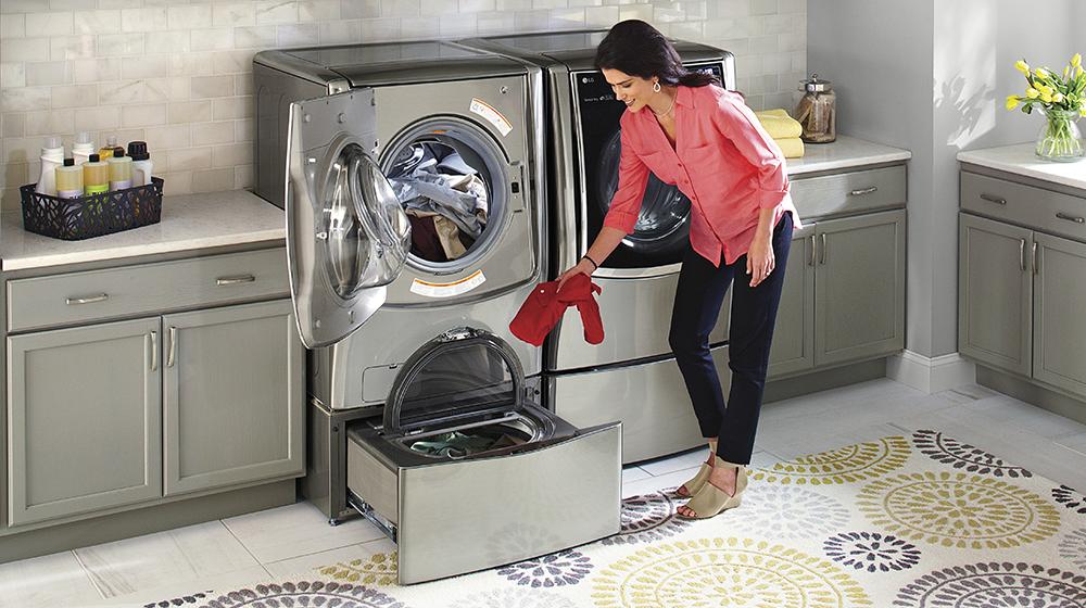 LG SideKick saves time by washing two
