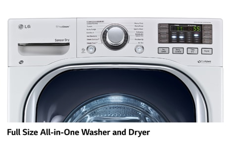 lg all in one washer dryer load washer washerdryer combo lg electronics 50 cu ft front load allinone electric washer