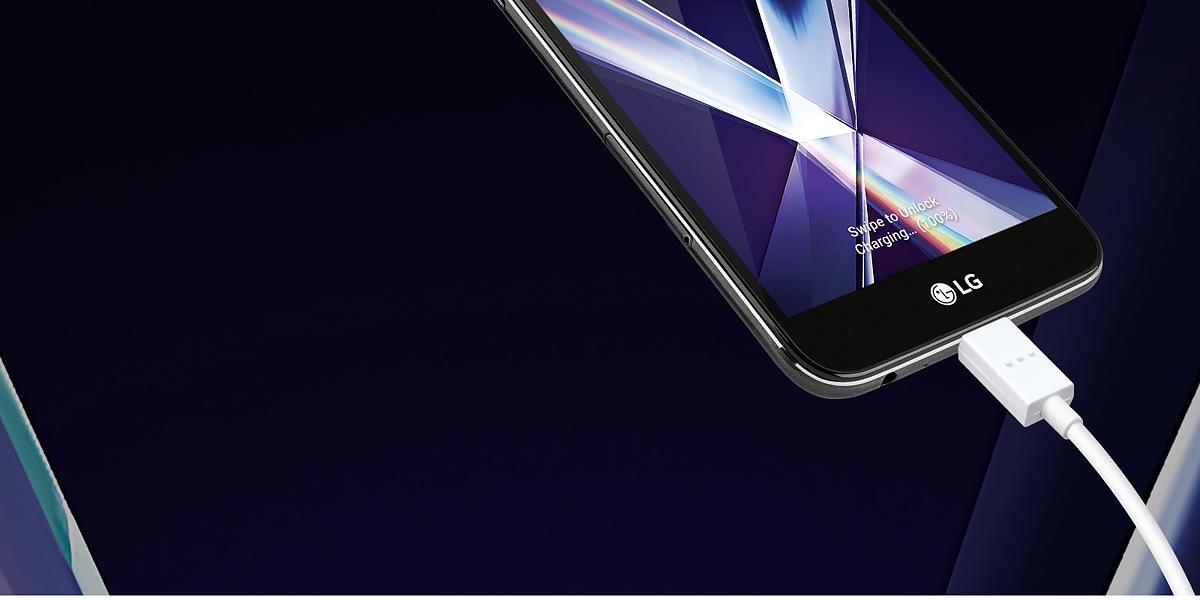 Virgin Mobile LG X Charge 16GB Prepaid Smartphone, Black