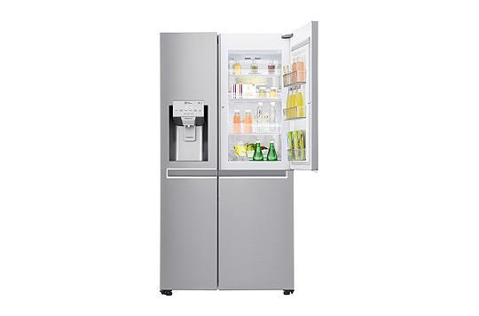 Side By Side Kühlschrank Idealo : Lg gsj nsuz side by side kühl gefrierkombination edelstahl a