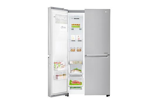 Kühlschrank Lg : Lg gsj nsuz side by side kühl gefrierkombination edelstahl a