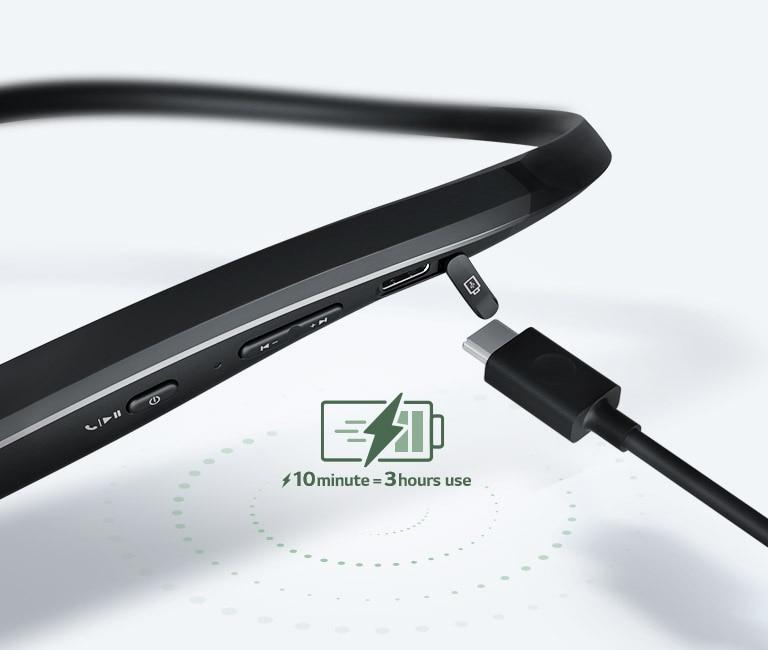 Lg Tone Flex Xl7 Bluetooth Wireless Headset Black Hbs Xl7 Acusbki