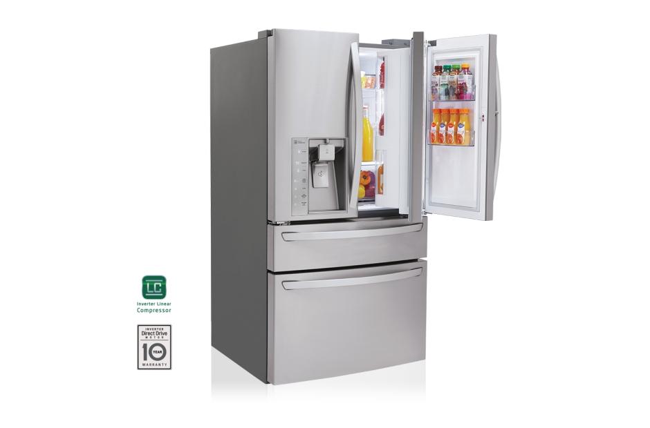 Lg Lmxs30776s 30 Cu Ft Super Capacity 4 Door French Door Refrigerator W Customchill Drawer