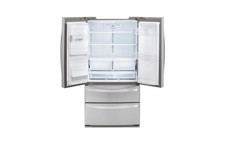 lg refrigerator 4 door. lg 27 cu. ft. ultra-capacity 4-door french door refrigerator, lmxs27626s stainless steel - sam\u0027s club lg refrigerator 4