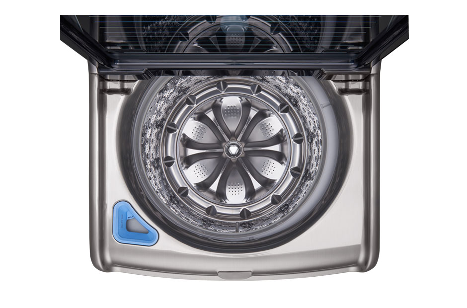 lg mega capacity 57cuft top load washer with turbowash technology in graphite steel