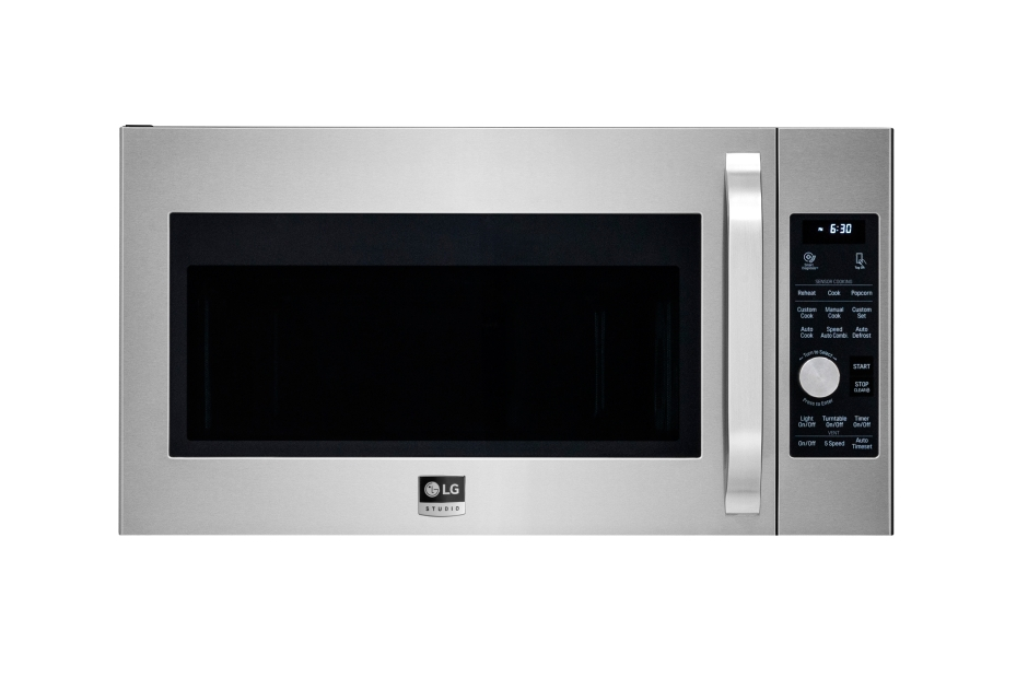 Lg Studio 1 7cuft Over The Range Microwave Oven In Stainless Steel Ge Pvm9005sjss 2 Cu Ft