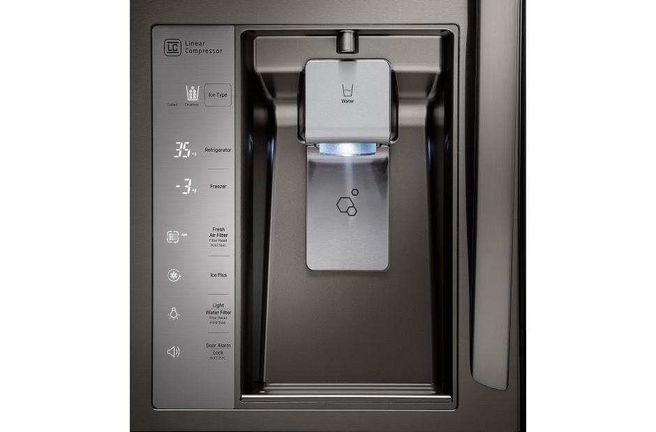 lg french 4 door refrigerator. lg 23cuft counter depth 4-door french door refrigerator in black stainless steel lg 4