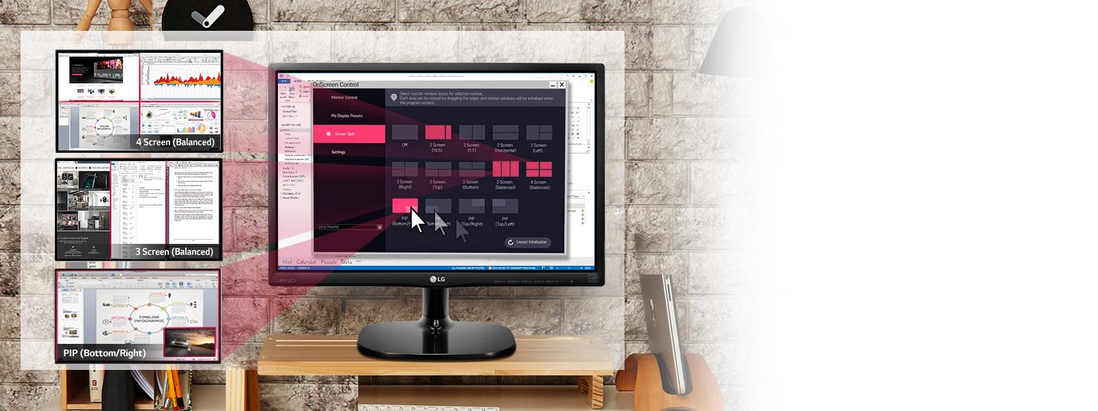 Lg 23mp48hq P Black 23 Fhd 1080p 5ms Gtg 75hz Ips Led Monitor  # Meuble Tv D'Angle Salvador