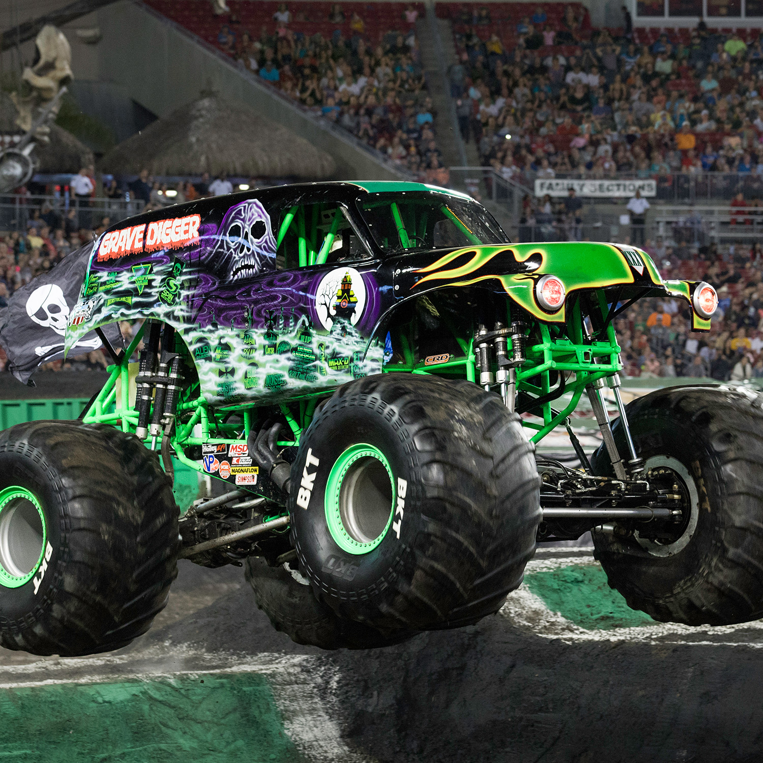 Just like a real monster truck