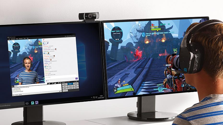 Logitech 3546975145 c922 pro hd webcam refresh - Webcam Logitech C922 originale avec trépied inclus