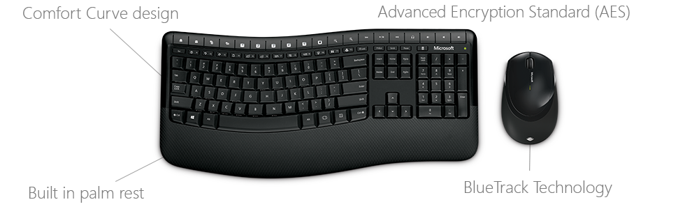 6e2db441867 Encrypt your keystrokes with AES technology - included with the Wireless  Comfort Desktop 5050.