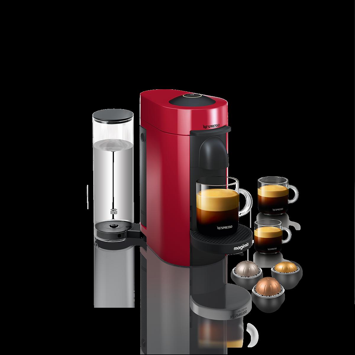 Nespresso Vertuoplus Coffee And Espresso Machine By Magimix Red