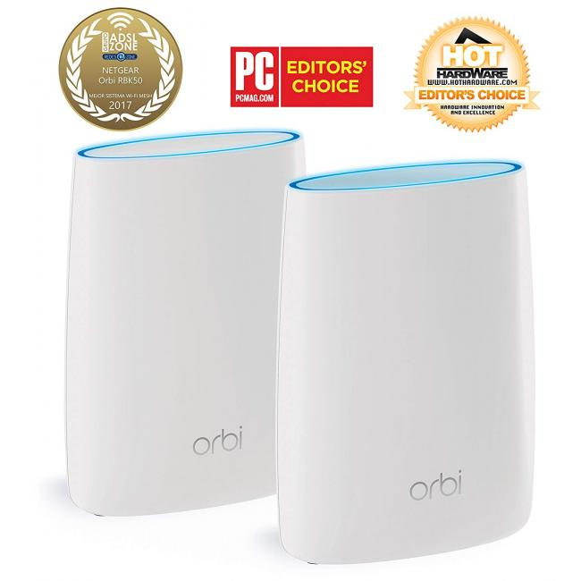 Système WiFi Mesh amplificateur Netgear Orbi AC3000 Routeur + Satellite  Orbi RBK50