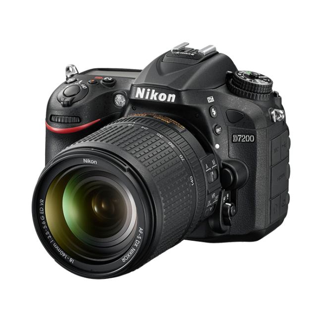 0f913d3a9d00c Cámara Nikon D7200 con Lente AF-S 18-140mm ED VR