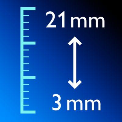 11rögzíthető hosszbeállítás 3-21 mm vagy 0 dcbbf0f1fa