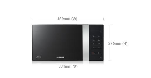Samsung Me76v Bbh 20l 800w Freestanding Microwave Oven Black