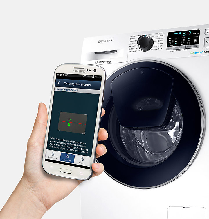 available on android and ios - Samsung Ww8ek6415sw Add Wash