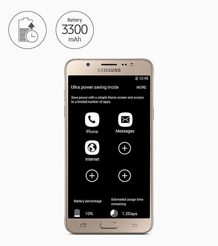 Ultra Power Saving Mode Secara Dramatis Mengurangi Konsumsi Baterai Dengan Menutup Fungsi Yang Tidak Dibutuhkan Memastikan Galaxy J7 Smartphone Anda Tetap