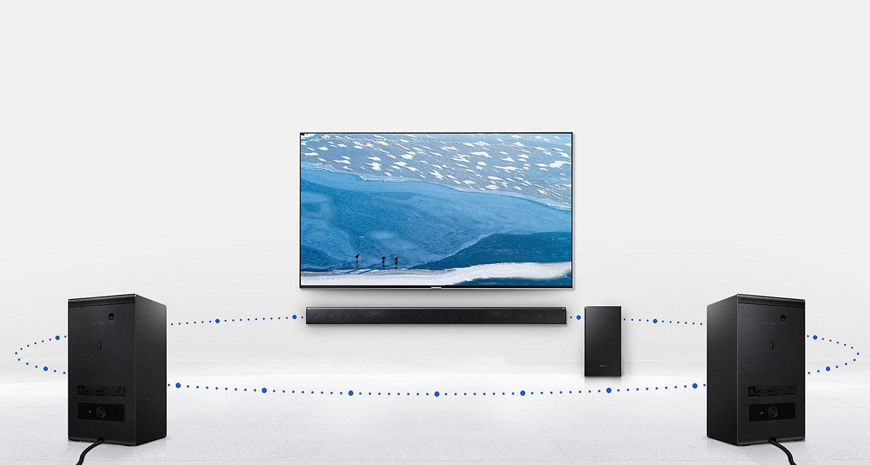 Samsung Soundbar & Wireless Subwoofer Series 9 HW K950 | Harvey Norman