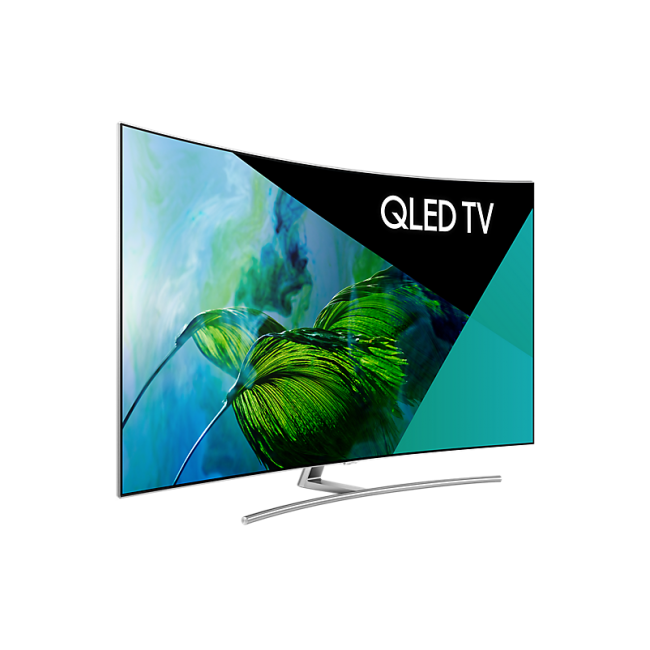 Samsung Qa55q8camwxxy 55 140cm Curved Qled Uhd Smart Tv At The