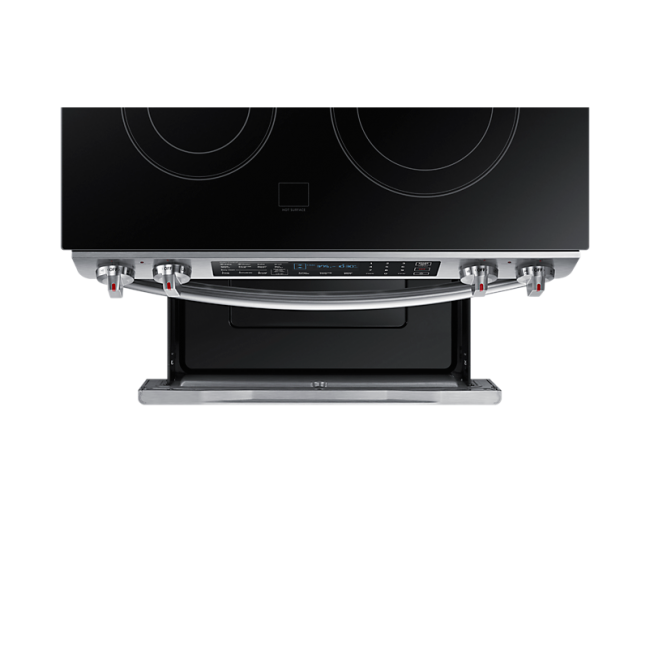 Samsung 30 Inch 58 Cuft Slide In Electric Range With 5 Burners