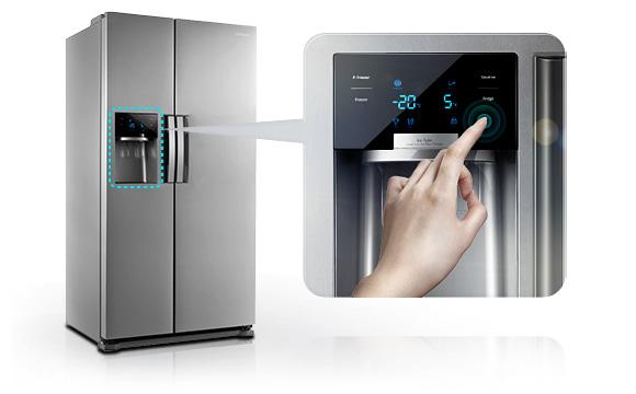 Side By Side Kühlschrank Gefrierschrank : Samsung sbs 7020 side by side kühl gefrierkombination edelstahl