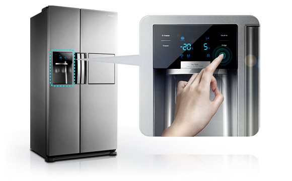 Side By Side Kühlschrank Einbaugerät : Samsung sbs side by side kühl gefrierkombination edelstahl