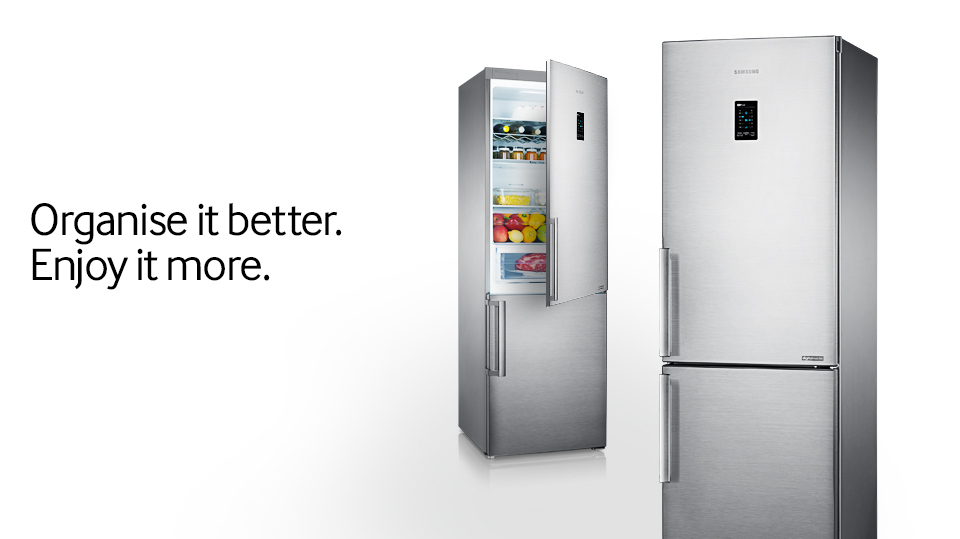 samsung fridge freezer. experience a whole new level of anisation and convenience with the refrigerator that maximises e efficiency · samsung fridge freezer
