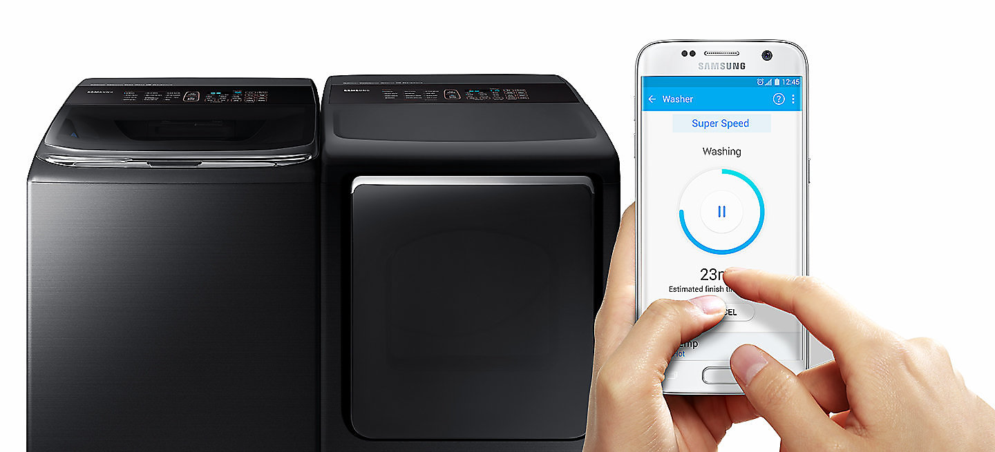 available for ios and android devices works on washer and electric dryer gas dryer has only smart monitor function