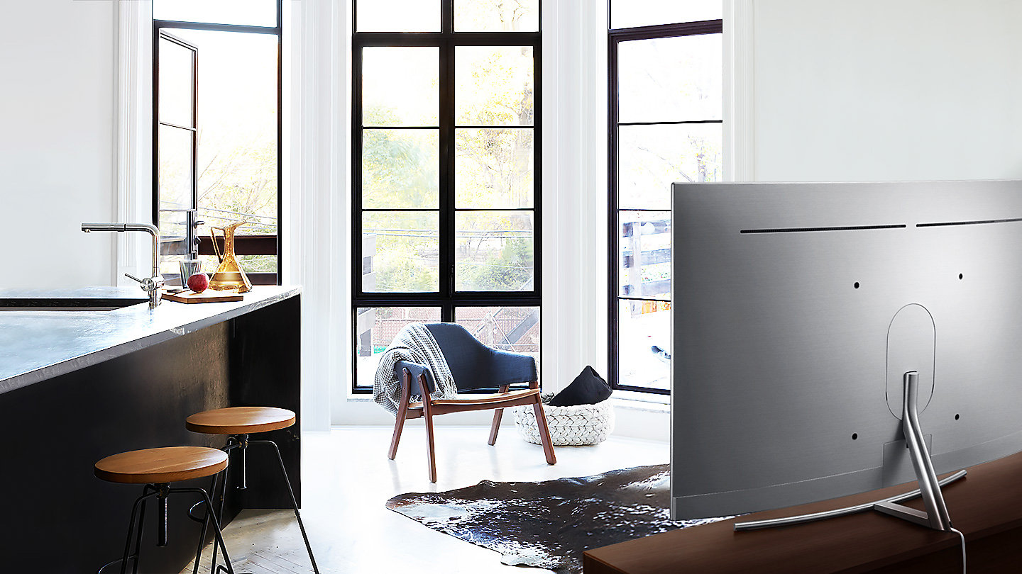 samsung tv qled 65. the beauty of simplicity and modern sophistication. whether placed on a stand or flush to wall, q8c\u0027s smooth perfectly finished back, samsung tv qled 65 1