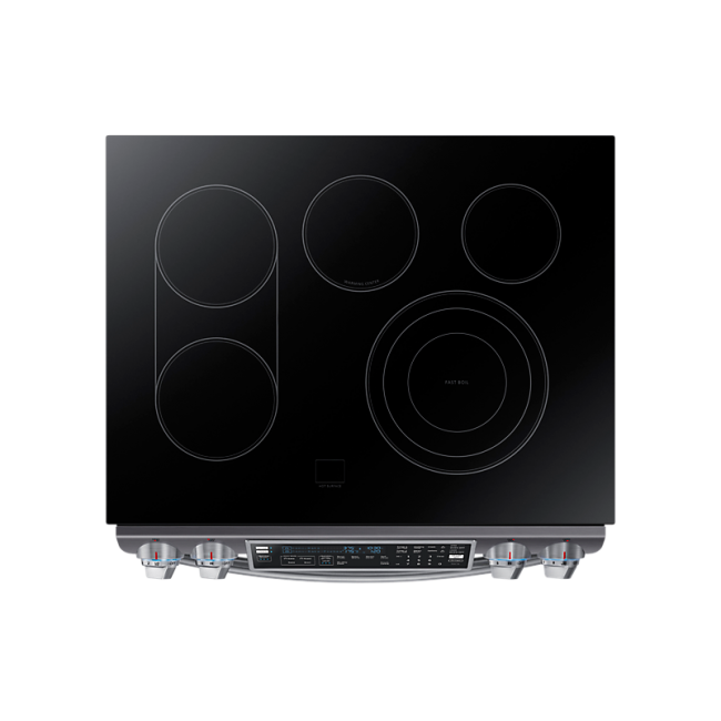 Samsung 5 8 Cu Ft Slide In Electric Flex Duo Range Ne58k9850wg