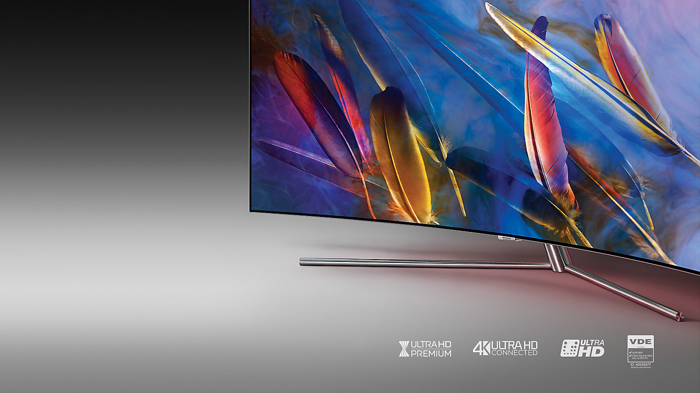 samsung tv qled 65. q7c curved qled tv. ground-breaking quantum dot technology delivers certified ultra hd premium picture quality and a world\u0027s first 100% colour volume*. samsung tv qled 65