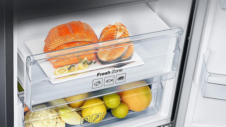 Bosch Kühlschrank Temperatureinstellung : Samsung rl33j3205sa kühl gefrier kombination a euronics.de