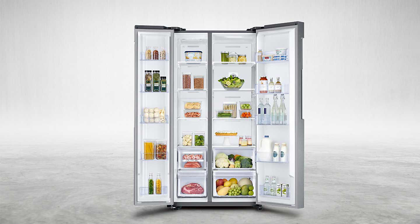 Samsung 637L Side By Side Fridge with Water Dispenser & Auto Ice Maker_ SRS637DLS