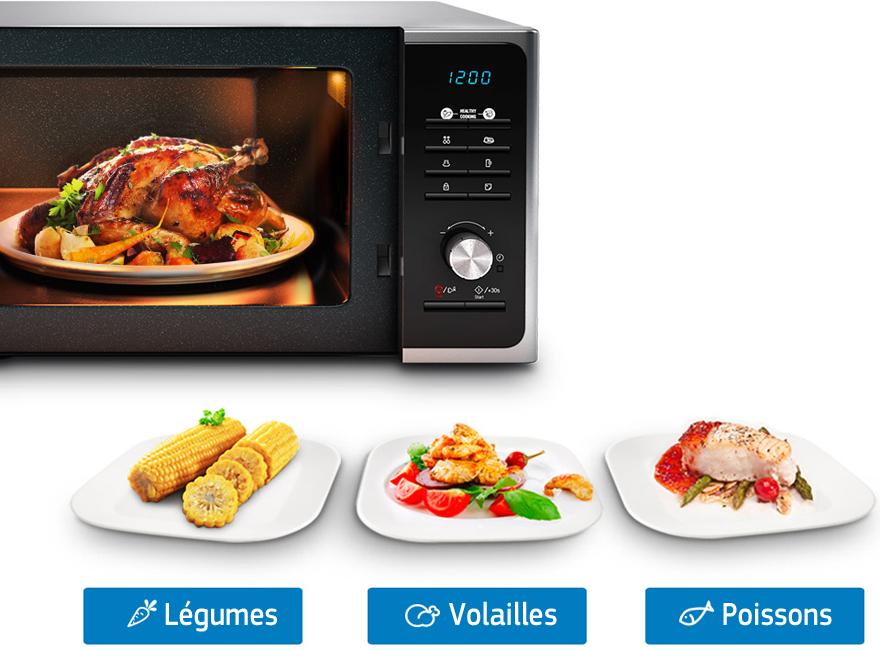 Micro ondes et gril Samsung MG23F301EAK (3834115) | Darty
