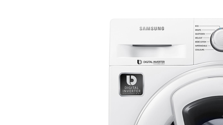 robuste et silencieux le nouveau moteur attnue la friction ce qui permet de rduire le bruit et les vibrations en rduisant la friction - Samsung Ww8ek6415sw Add Wash