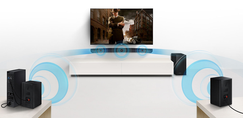 Pulsat Samsung Hwm 4501 Barre De Son Hwm 4501 Pulsat # Branchement Meuble Tv Hdw