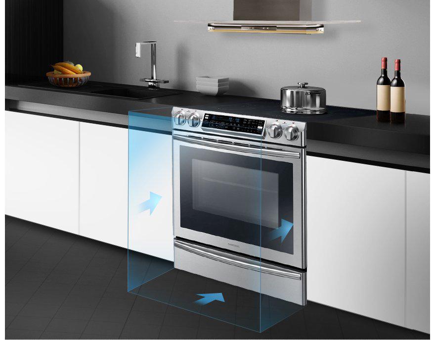 Samsung Flex Duo 30 in. Slide-in Electric Range
